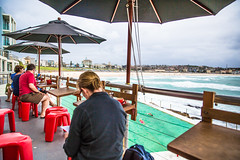 Icebergs Cafe' - Bondi 2013 (Paul Amestoy) Tags: ocean morning blue sea cloud seascape beach water coffee pool bondi clouds swim buildings photo cafe surf pacific sydney australian australia swell bondibeach icebergs bondiicebergs 2013 eggsicebergsviewbreakfast