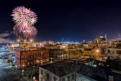 Happy New Year from New Bedford! (Frank C. Grace (Trig Photography)) Tags: ma unitedstates fireworks massachusetts newengland newyear newyears happynewyear elmstreet firstnight 2014 newbedford whalingmuseum 2013 whalingcity trigphotography frankcgrace
