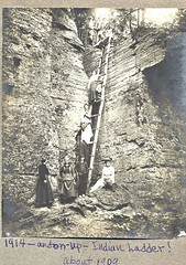 Indian ladder thacher park  early 1900s  albany ny (albany group archive) Tags: park ny early indian albany ladder 1900s thacher