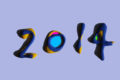 2014 (Naoya Doi) Tags: color art design paint abstractart infinity year vinyl newyear warp number plastic popart gravity readymade zero infinite happynewyear actionpainting 2014  gesturalabstraction