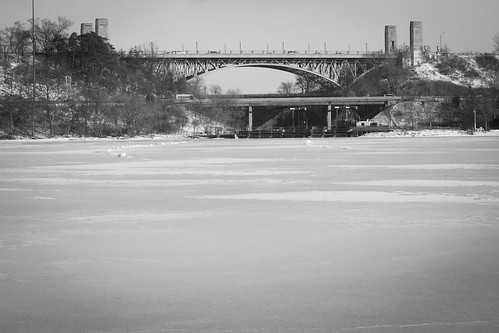 High Level Bridge and Frozen Canal