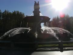 DSCF1645 (paddyfrog2012) Tags: sky sun fountain nikon aixenprovence flare nikond3200 d3200