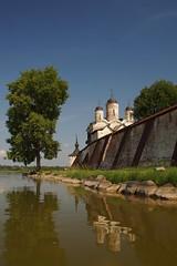 Church of Transfiguration - Reflections (Sergei P. Zubkov) Tags: church russia july monastery orthodox region vologda 2013 kirillov kirillobelozersky