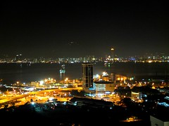 Night View of Butterworth & Georgetown (stardex) Tags: road city light building architecture night highway georgetown malaysia penang butterworth komtar stardex