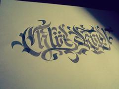 chloe howl (Ink) Tags: brush lettering calligraphy blackletter in0k