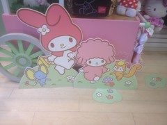 My Melody Cardboard Characters (Suki Melody) Tags: hello pink signs rabbit bunny out mouse japanese store squirrel flat cut piano kitty plush sanrio melody cardboard lamb characters stands plushes