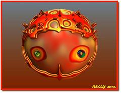 *New...LOOK!* (MONKEY50) Tags: abstract art color fantasy digital colours blue colour colors orange yellow fractal fractals paintshoppro hypothetical flickraward autofocus musictomyeyeslevel1 awardtree netartii artdigital beautifulphoto