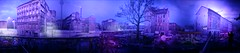 Hier und dort (eilahtan161) Tags: panorama berlin licht nacht illusion blau farbe lichterspiel lichtershow