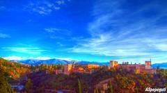 Alhambra de Granada desde San Nicolas (ASpepeguti) Tags: espaa andaluca spain olympus andalucia granada andalusia albaycin alandalus miradordesannicolas zd1454mm e620 aspepeguti photomatixpro42