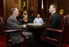 03-10-2014 Author Chad Bianchi meets with Governor Bentley