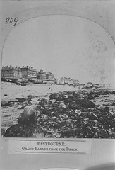 E01365 Grand Parade (East Sussex Libraries Historical Photos) Tags: seaside victorian eastbourne leisure bathing seafront 1860s eastsussex 1870s grandparade bathingmachines