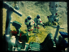 Walking back (TaglessKaiju) Tags: toy photography nasa collection astronauts fantasy figure scifi spaceman sciencefiction spacemen daron spacemission realtoy actioncity