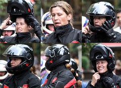 Motorcycle.... (392) (anjaschmidt1982) Tags: girl leather eyes helmet flipoff gear racing chick suit gloves ladys motorcycle protective edition dressed ari visor lay shoei fullface schuberth