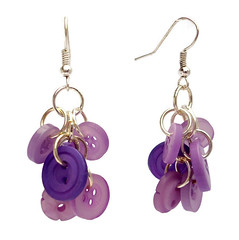 Purple button shaggy chainmaille dangle earrings (Bramalfie Beads Etc.) Tags: uk silver jump purple womens ring jewellery button accessories shaggy earrings seller chainmail chainmaille bramalfiebeadsetc