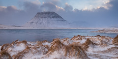 Hummocky View (Sue_Hutton) Tags: winter mountain snow ice water clouds squall island iceland fjord kirkjufell snaefellsness hummocks february2015
