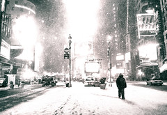 New York City - Snow at Night - Times Square (Vivienne Gucwa) Tags: nyc newyorkcity winter blackandwhite snow newyork night noiretblanc manhattan sony urbanphotography newyorkatnight nycnight nycwinter nycsnow citysnow newyorksnow blackandwhitenyc nycbook cityphotography newyorkstreetphotography newyorkwinter newyorkcityphotography newyorkbook viviennegucwa viviennegucwaphotography blackandwhitenewyorkcityphotography sonya99 nythroughthelens newyorkphotographybook