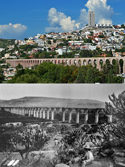 Aqueduct through time (Thomas Roland) Tags: old travel santiago summer water america de mexico sommer central landmark tourist aqueduct amerika supply quertaro akvadukt mellemamerika