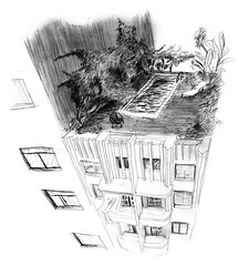 My sister has been drawing this Fantastic (cacahuete's) Tags: city illustration fantastic drawings dibujos arquitecture urbanismo ilustración angelaleon uploaded:by=flickrmobile flickriosapp:filter=nofilter guiafantasticadesaopaulo