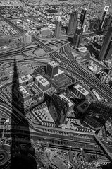 Cityscape, Shadowscape (@mons.always) Tags: travel shadow silhouette blackwhite dubai cityscape east middle burj 2014