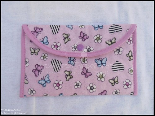 """Conjunto em tecido para bebé """"A Fada e os pózinhos perlimpimpim lilás"""""""