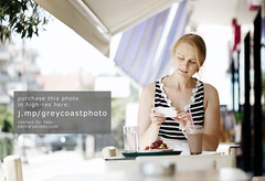 Attractive woman taking picture of a pastry on her mobile (creativemarket.photo) Tags: camera summer people food woman cup coffee girl beautiful smart smiling female bar laughing fun lunch outdoors happy person restaurant photo cafe women cookie break phone eating young lifestyle streetscene smartphone together blond drinks snack pastry rest pause cheerful cafeteria taking enjoying 30s photographing 20s caucasian