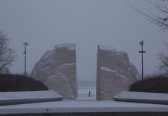 Across the Great Divide (Roblawol) Tags: winter mountain snow monument rock washingtondc dc districtofcolumbia memorial snowy granite martinlutherkingjr mlkjr