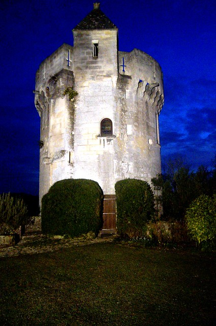 Garden Tower at night