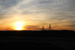 Ayamonte (Huelva) (feliciaruss0) Tags: espaa portugal atardecer huelva nubes puestadesol algarve frontera guadiana vegetacin ayamonte relieve infraestructura orografa geografafsica