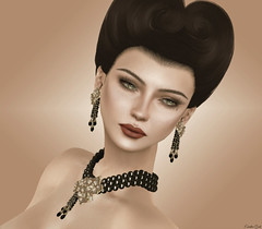(Eurdice Qork) Tags: portrait people sexy classic face photoshop vintage model sl secondlife soul chic styling jewel jewerly chopzuey