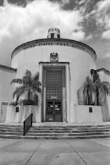 Miami Beach Post Office (StefanKoeder) Tags: usa film architecture analog 35mm blackwhite florida postoffice olympus architektur artdeco miamibeach schwarzweiss olympusom2 selfdeveloped adox silvermax olympuszuikoautow2828 adoxsilvermaxdeveloper