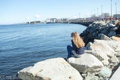 Skansen-Brattra (monake) Tags: girl norway rocks trondheim jente steiner trondheimsfjorden