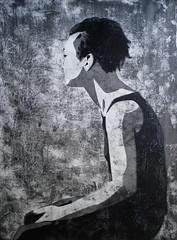 ein Kreis mit Ecken (Christian Haupt) Tags: art monochrome painting stencil kunst acryl malerei serigrafie