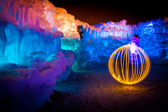 orb of light (Sam Scholes) Tags: light painting glow utah colorful ice castles winter wonderland abstract glowing formations midway icecastles iceformations lightpainting midwayicecastles winterwonderland