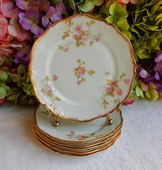 Vintage Limoges Porcelain Plates ~ Roses ~ Gold Gilt (Donna's Collectables) Tags: roses vintage gold plates porcelain ~ gilt limoges