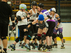 IMG_0818 (clay53012) Tags: womens flat track roller derby wftda derby flat track madison mrd league bout jammer jam team skate hartmeyer ice arena moocon2016