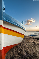 Colors (ettorelomb) Tags: sun mer beach colors sunrise boat barca mare palermo colori aspra