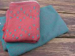 diamond tea towels (sandySTC) Tags: cotton ashford 82 diamondpattern rigidheddleloom