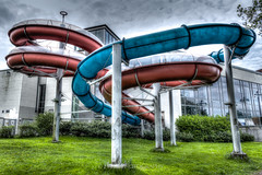 Ugly waterslide (J. Pelz) Tags: playground canon tube structure ugly waterslide hdr vaxjo