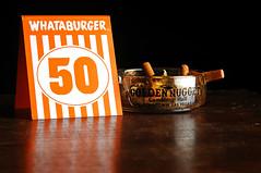 Fifty (Studio d'Xavier) Tags: stilllife ashtray cigarettes 50 whataburger fifty beautifulnumbers strobist werehere