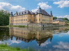Schloss Dyck (patuffel) Tags: lake reflection castle water mirror see wasser palace reflected schloss teich spiegelbild gemany reflektion gespiegelt dyck jchen juechen