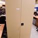 Tall metal storage unit