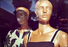 The Golden Rule (Steve Lundqvist) Tags: reflection mannequin window shop gold golden model group rule womenswear