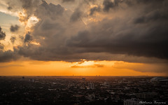 Sunset (Bethania Canavesi) Tags: sunset city clouds cityscape miami sun colors