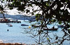 quase escondido (Ruby Ferreira ) Tags: beach boats barcos branches hills montanhas per regiodoslagos bziosrj praiaocenica