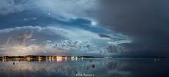That's Why I Like Storms (Vilim Hlusicka) Tags: blue sea vacation moon beach night clouds nikon holidays long exposure tripod dramatic croatia sigma romantic moonlight zadar thunder adriatic 1835 lightnings zaton