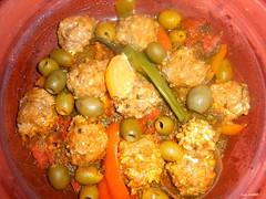 Tagine de poisson et lgumes (latifalaamri) Tags: tomates maroc olives sardine poisson citron poivron riz djeuner boulettes tagine
