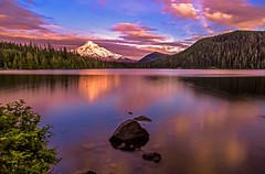 Mount Hood at Sunset on Lost Lake (Cole Chase Photography) Tags: sunset oregon canon pacificnorthwest mounthood hoodriver lostlake mthoodnationalforest eos5dmarkiii