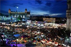 Hyderabad: An aerial view of night bazars during Ramzan. (legend_news) Tags: hyderabad an aerial view night bazars during ramzan