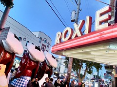 Roxie Theater Guarded By Doggie Diner Heads During SF Indie Doc Fest (Lynn Friedman) Tags: sanfrancisco documentary filmfestival 94103 roxietheater doggiedinerheads lynnfriedman sfindiefest docclub sfindiedocfest