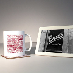 forgotten haunts liverpool mug and coaste (rethinkthingsltd) Tags: city liverpool manchester design parry forgotten mug local coaster hacienda scouser haunts ilsa pickwicks epics typographically rethinkthings